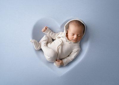 baby boy in blue heart